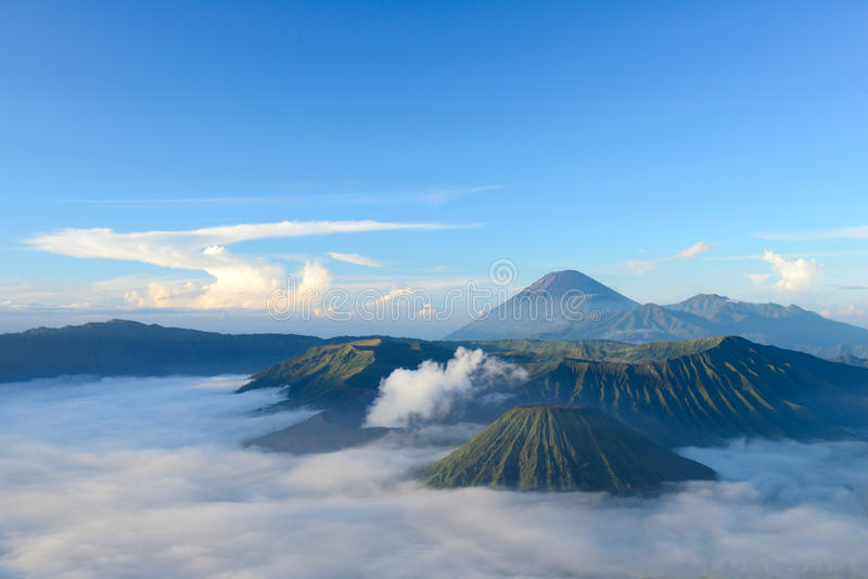 Bromo-Vulkan in Indonesien lizenzfreie stockfotos