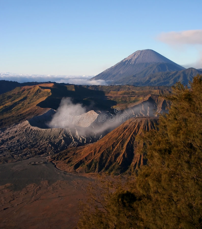 Bromo Vulkan, Indonesien lizenzfreie stockfotografie