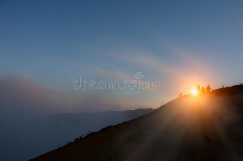 Bromovulkaan bij zonsopgang, het Nationale Park van Tengger Semeru, Oost-Java stock foto's