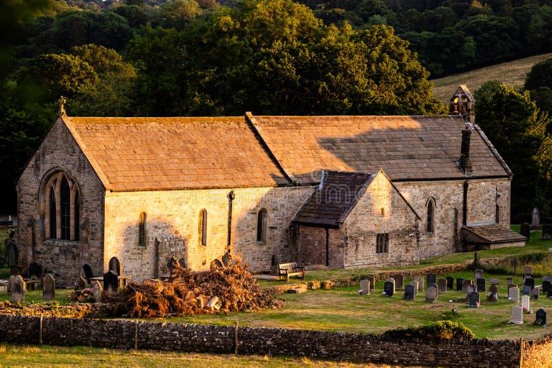 Brompton on Swale, United Kingdom - 07/24/2018: The Parish Church of Saint Agatha in Easby stock image