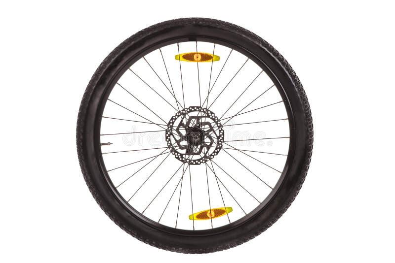 Broms för diskett för hjulvinandeframdel för mountainbike arkivfoto
