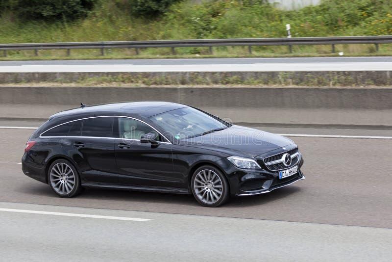 Broms för Mercedes Benz CLA-skytte arkivfoton