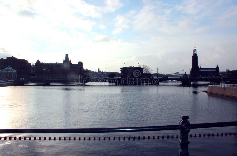 Bron i Stockholm, Sverige 2016 royaltyfri foto