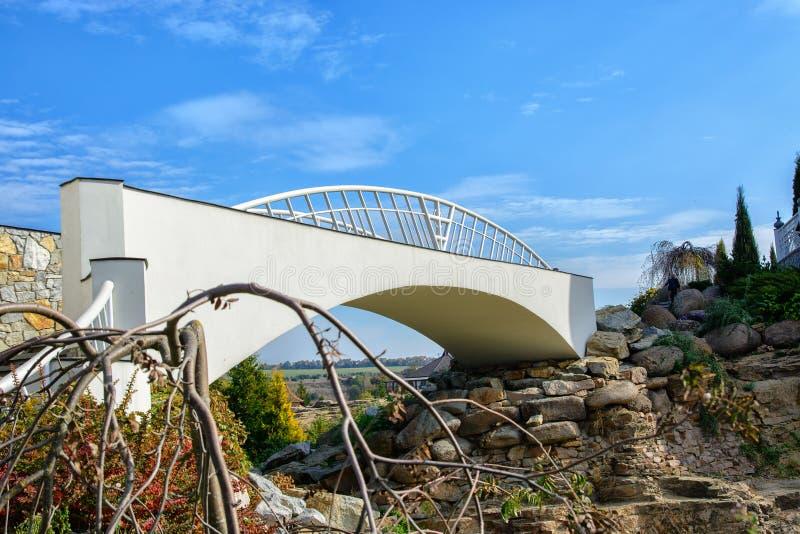Bron lokaliseras på vaggar royaltyfri fotografi