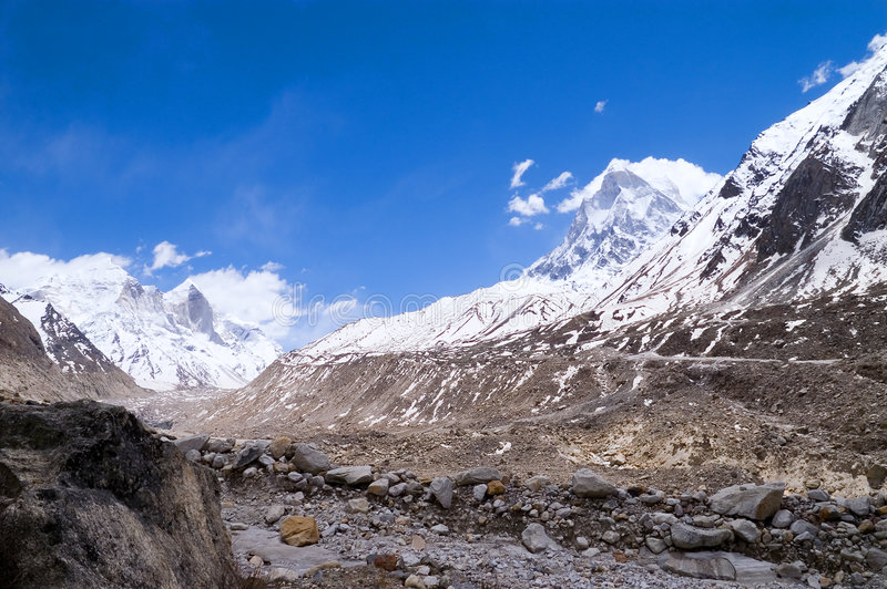 Bron van Ganga in Himalayagebergte royalty-vrije stock fotografie