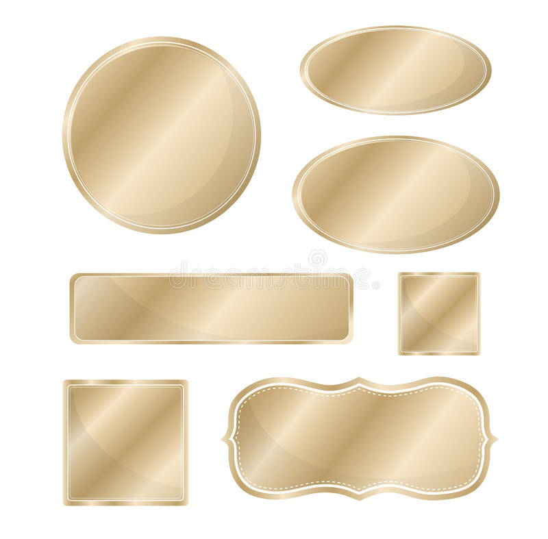 Bronce determinado del icono metálico en blanco ilustración del vector