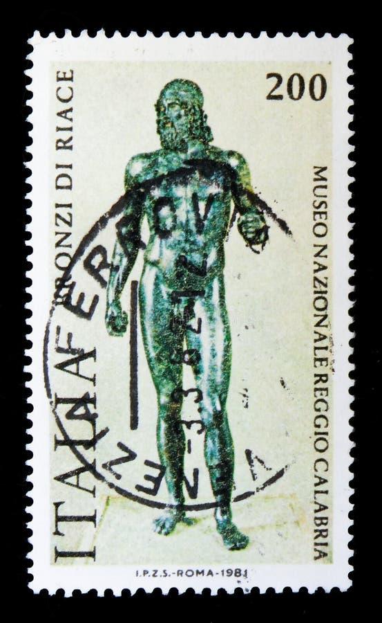 Bronces de Riace, serie, circa 1981 foto de archivo libre de regalías