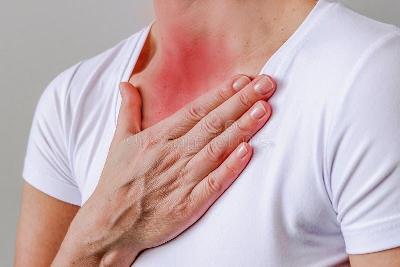 Bronchitis is een concept voor medisch ontwerp Ademhalingsstelsel-, borstkas- en mediastinumaandoeningen Medisch symptoom Ziekte, royalty-vrije stock afbeeldingen