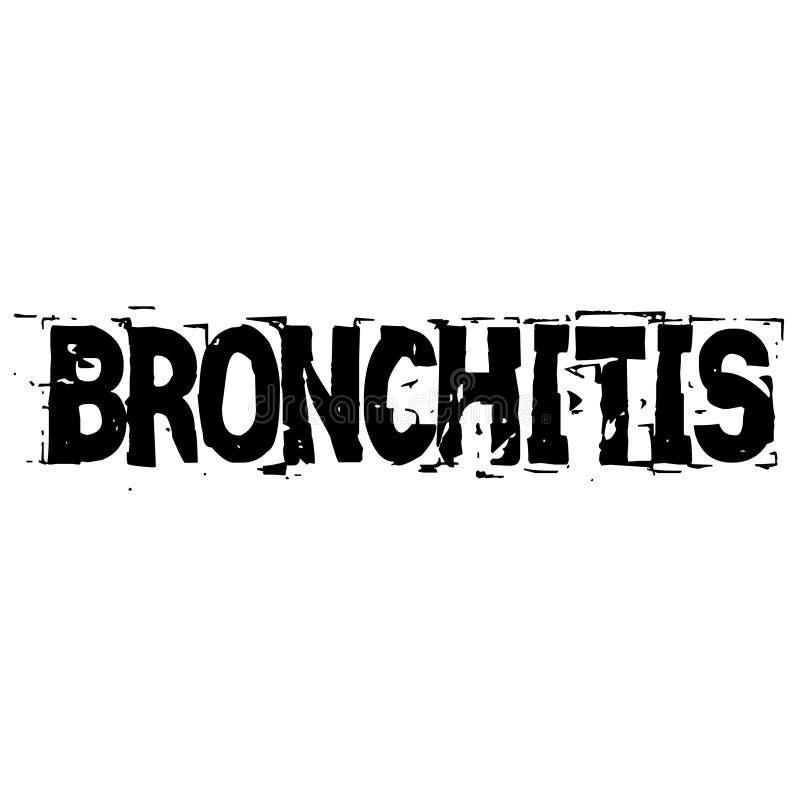 BRONCHITIS-Stempel auf Weiß lizenzfreie abbildung