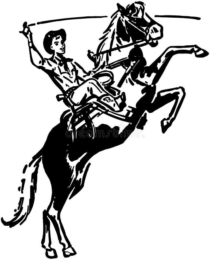 Bronco s'opposant illustration stock