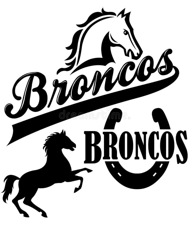 Broncos Team Mascot royalty free illustration