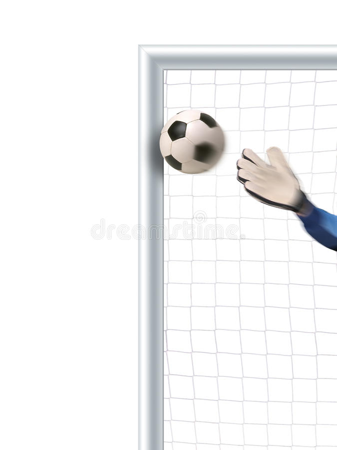 broni bramkarz piłkę nożną target1774_0_ ilustracji