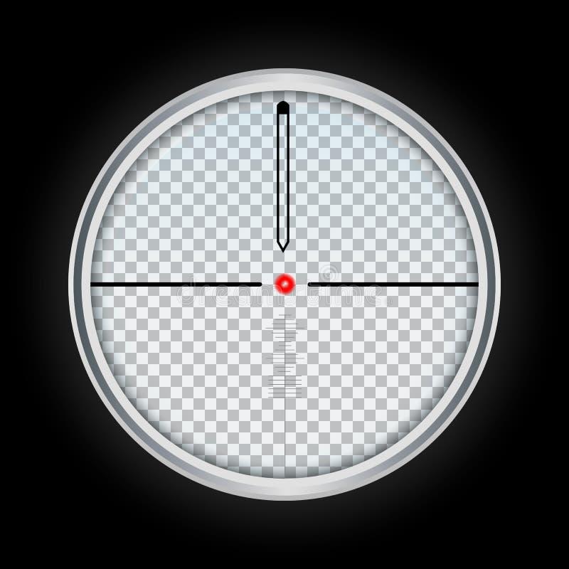 Broni crosshair ikona, realistyczny styl ilustracji