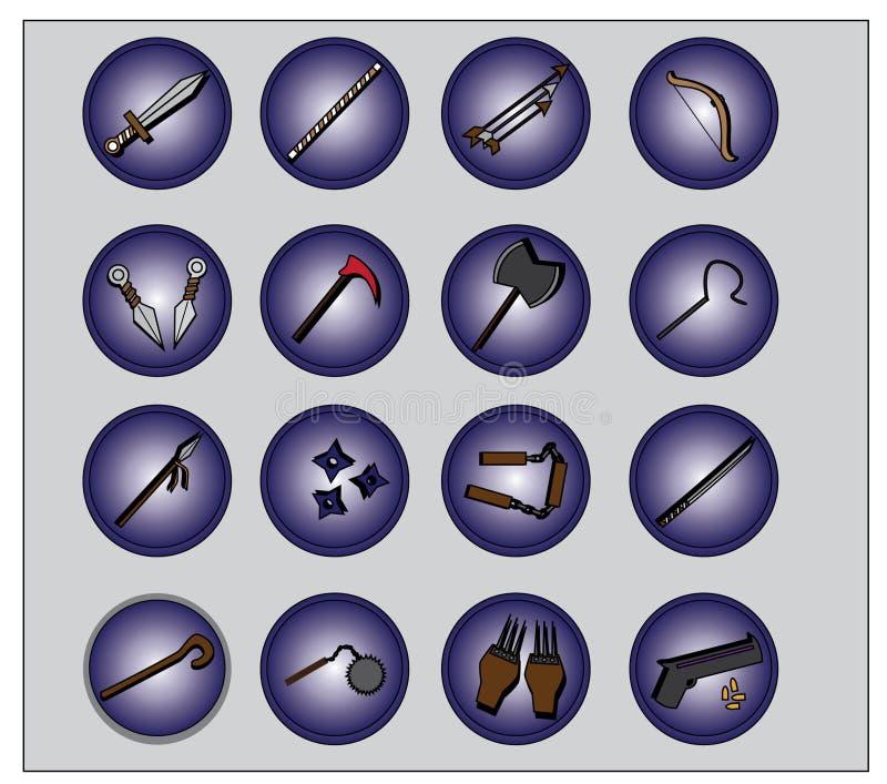 Broni ikona dla gry lub sieci zdjęcia stock