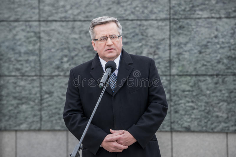 Bronislaw Komorowski in Poland royalty free stock images