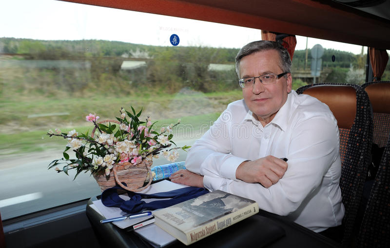 Bronislaw Komorowski presidential campain royalty free stock photos