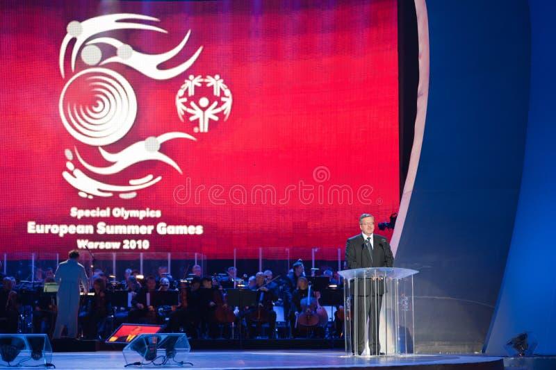 bronislaw komorowski prezydent zdjęcie royalty free