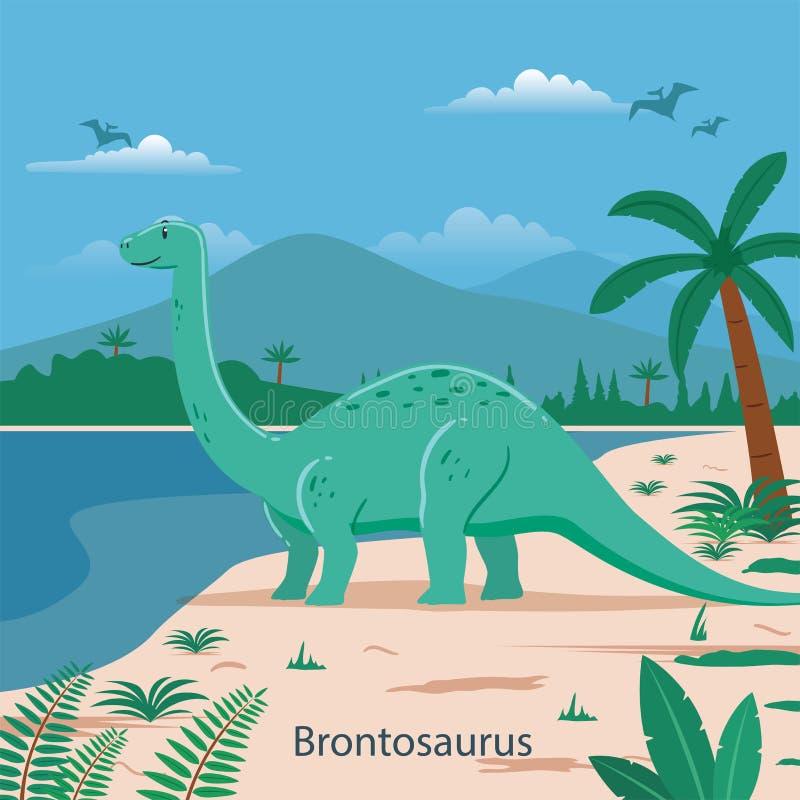 bronkial Förhistoriskt djur stock illustrationer