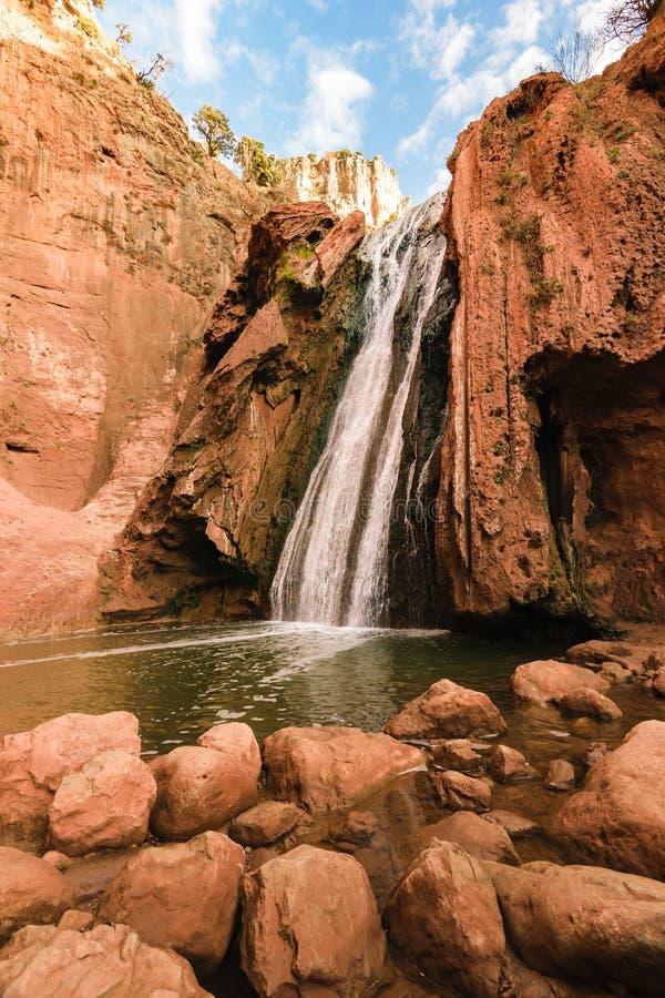 Bronnen Oum ER Rbia, het Nationale Park van Aguelmam Azigza, Marokko royalty-vrije stock foto