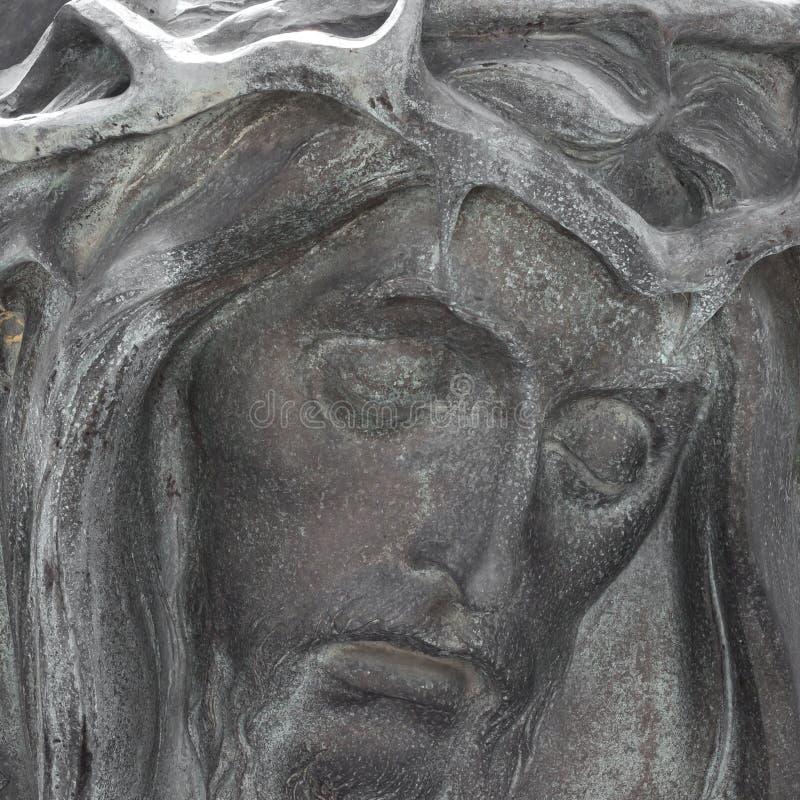 Brons bas-Hulp van Christus royalty-vrije stock foto's