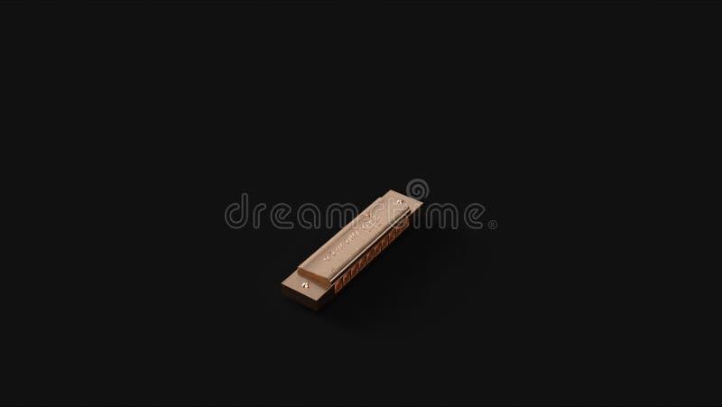 Brons den franska harpan för mässingsmunspelmunspelet fotografering för bildbyråer