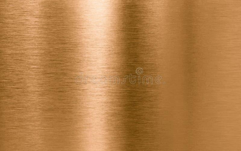 Brons of koper de achtergrond van de metaaltextuur royalty-vrije stock afbeeldingen