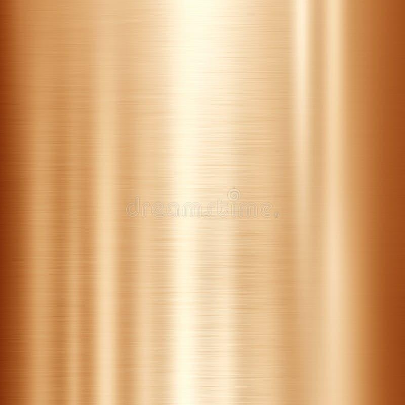 Brons of kopermetaalachtergrond royalty-vrije illustratie