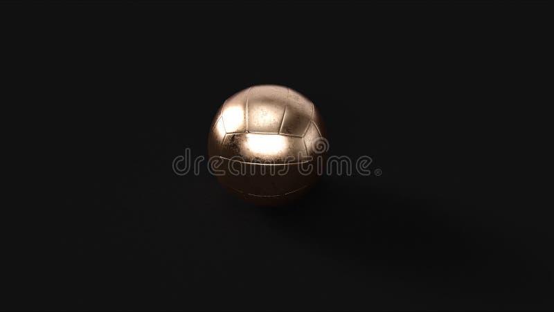 Brons mässingsvolleyboll royaltyfri foto