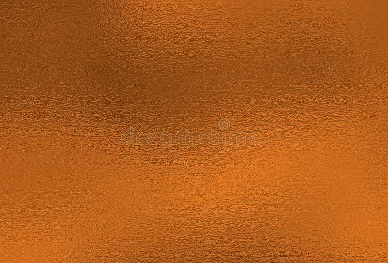 bronsachtergrond De decoratieve textuur van de metaalfolie stock afbeeldingen