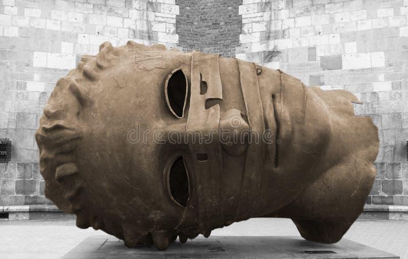 Bronsbeeldhouwwerk in Krakau royalty-vrije stock fotografie