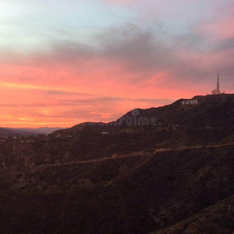 Bronson Canyon solnedgång arkivbild