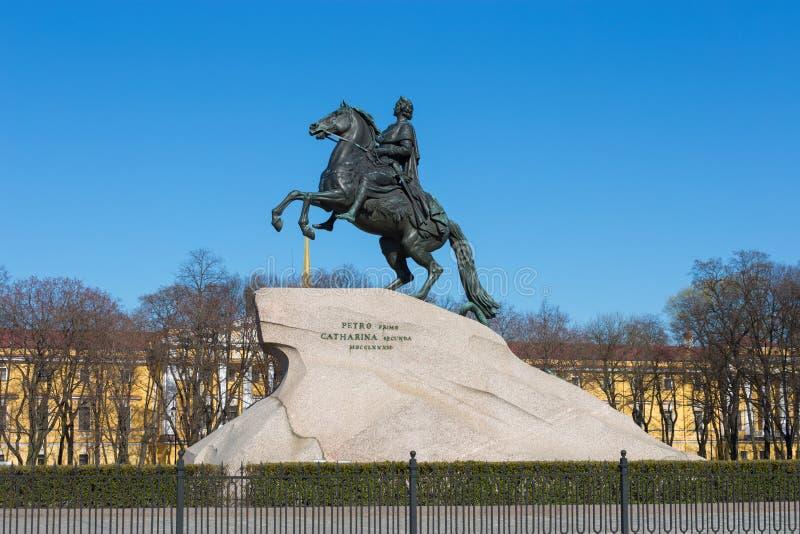 Bronsruiter, St. Petersburg, Rusland stock fotografie