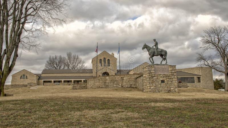 Bronsskulptur av willen Rogers på hästryggen, Claremore, Oklahoma arkivbild