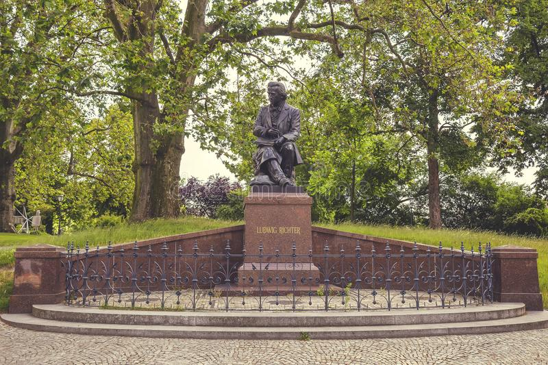 Bronsstaty av Ludwig Richter 2 royaltyfri foto