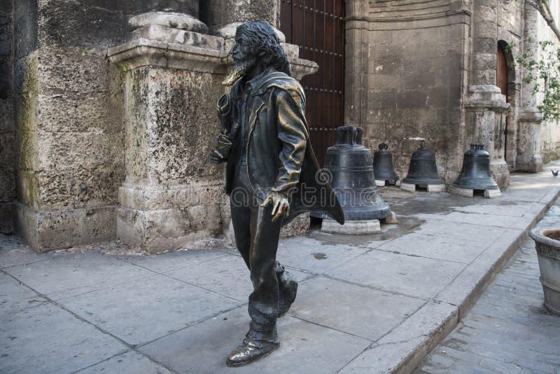 Bronsstatyfyrkant Francis Assisi, Kuba fotografering för bildbyråer