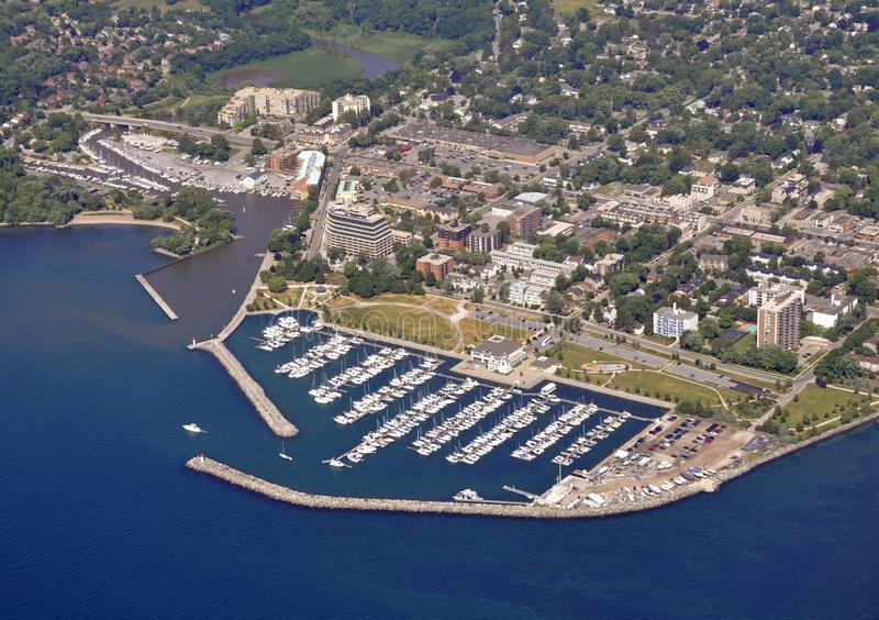 Bronte Marina aerial royalty free stock photos