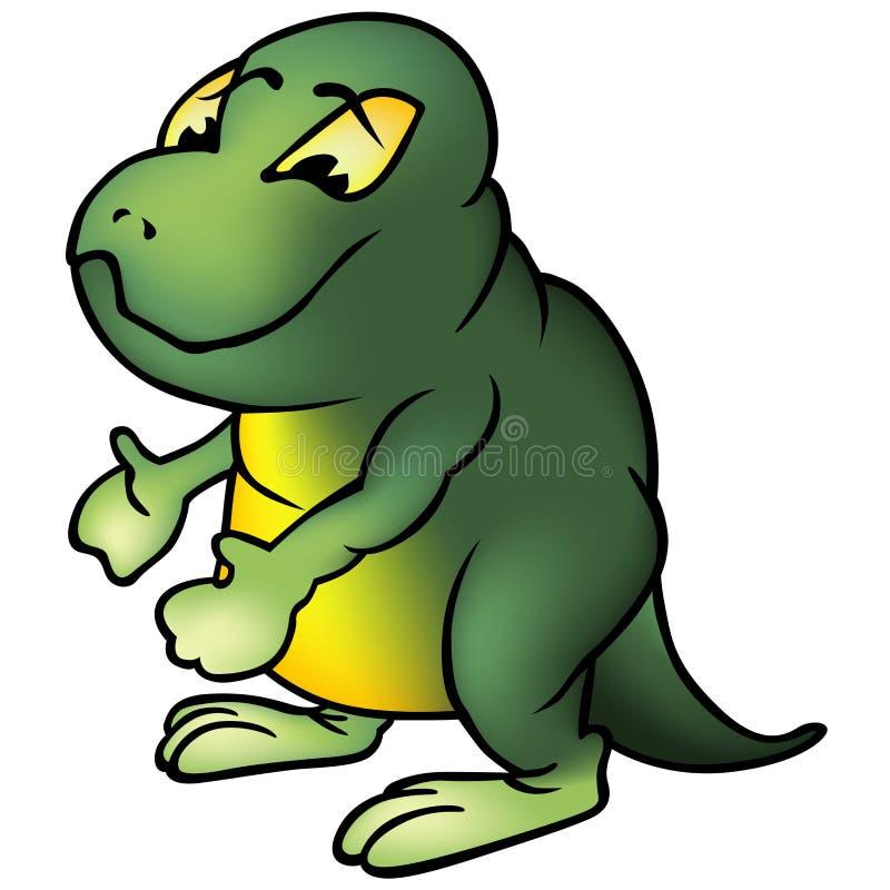 Brontosaur verde stock de ilustración