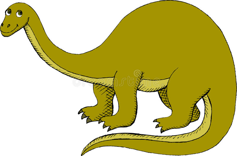 Download Brontosaurus stock vector. Illustration of drawing, drawn - 23439980