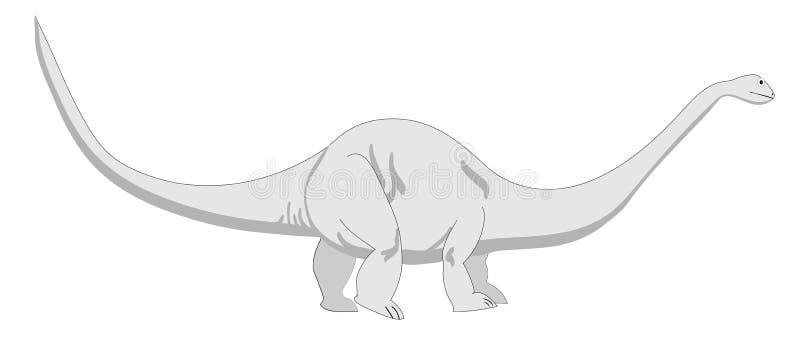 Brontosaurus royalty illustrazione gratis