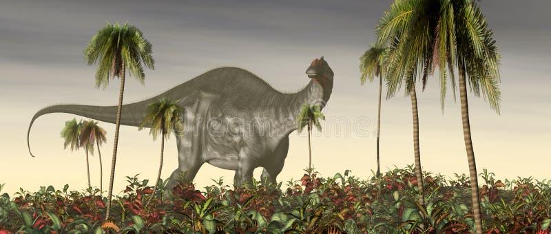 Brontosaurus del dinosaurio ilustración del vector