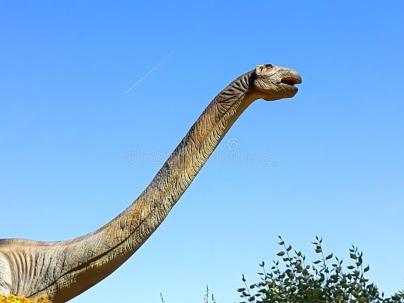 Brontosaurus-Langhals-Dinosaurier-Reptilienpark stockbild