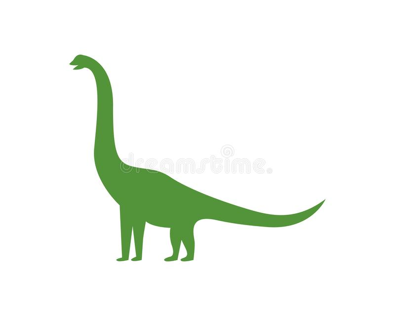 Brontosaurus logo template vector icon vector illustration