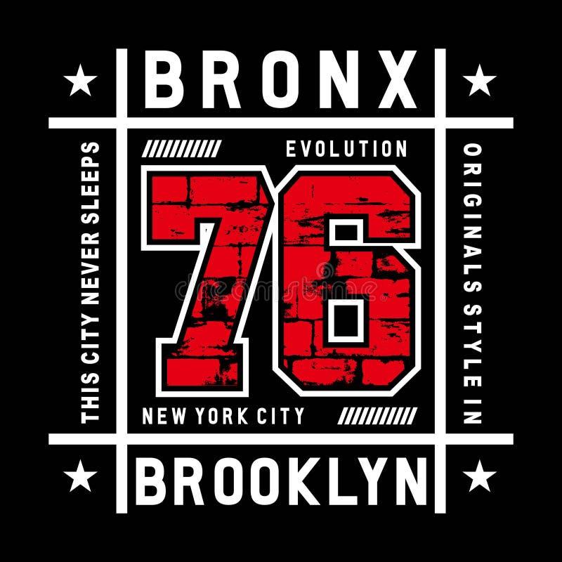 Bronx ewolucji typografii projekt dla s hirt ilustracji