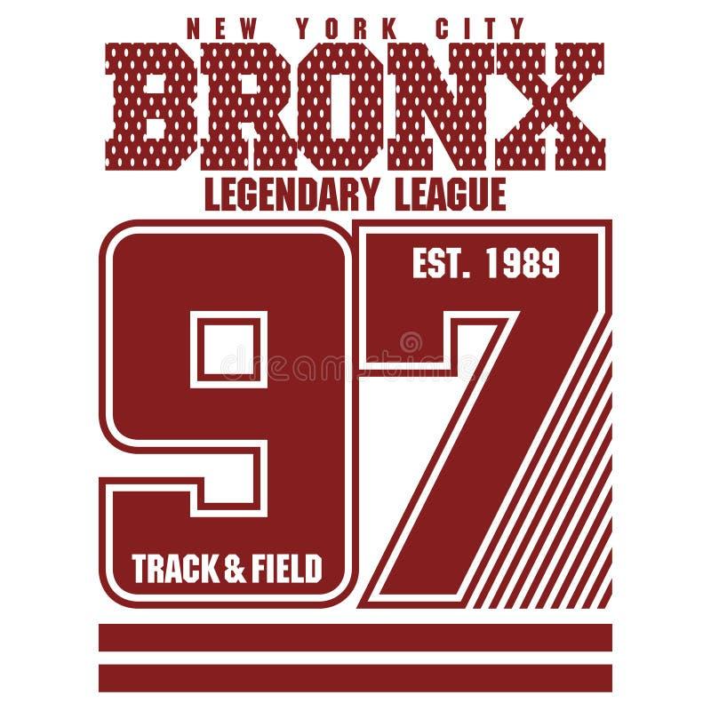 Bronx koszulki grafika ilustracja wektor