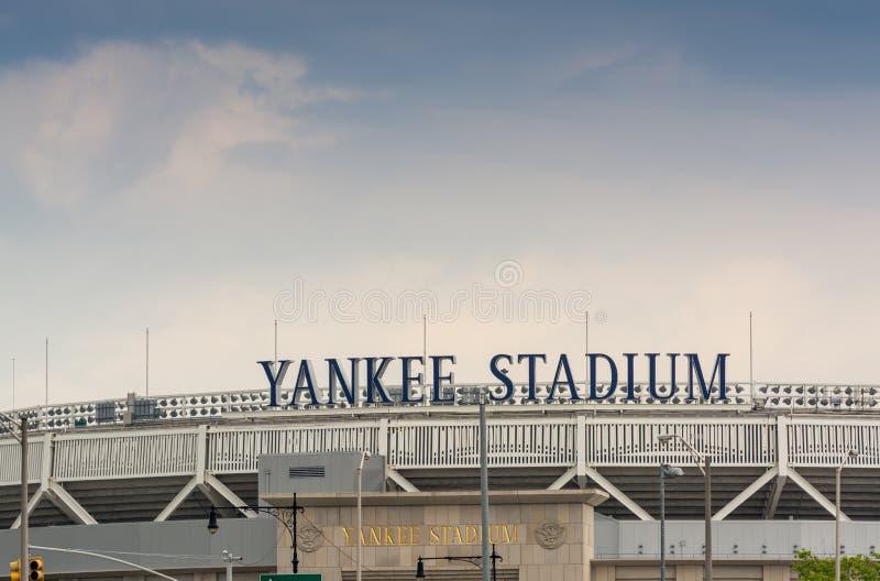 BRONX, NEW YORK - JUNE 11: Yankee Stadium sports building. Exterior view on June 11, 2013 in the Bronx, New York. royalty free stock photos