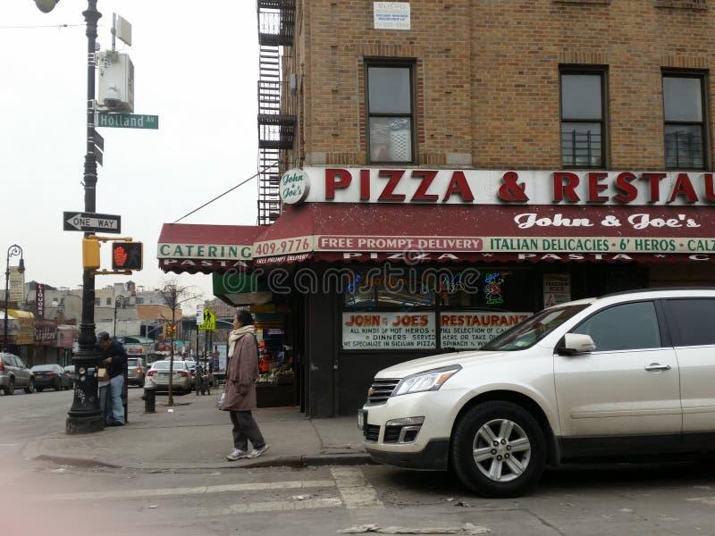 Bronx, NY pizza place stock photos