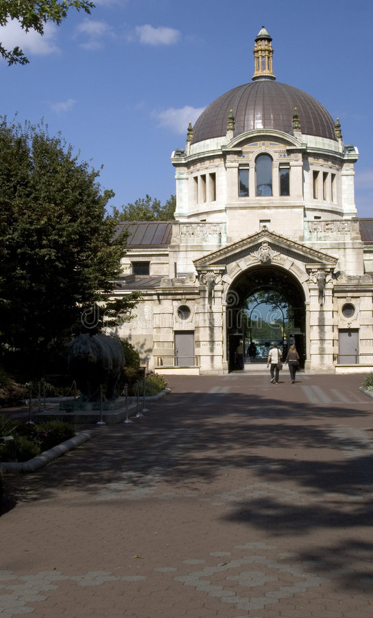 Bronx zoo center classic building. Classic bronx zoo center building royalty free stock photo