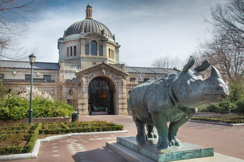 Bronx-Zoo-Gebäude lizenzfreies stockbild