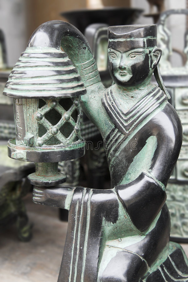 A bronze art royalty free stock photos