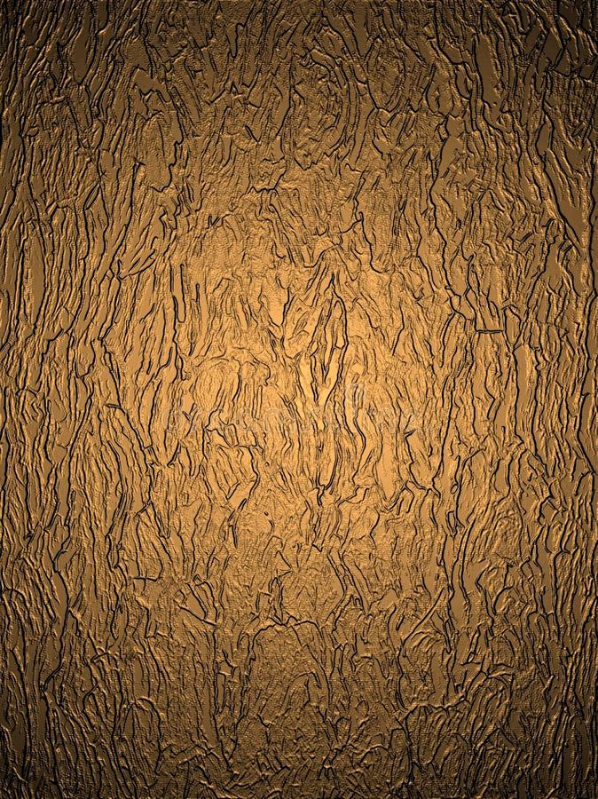Bronze background image of a specific texture for the background.illuminated. Almost mirror surface, uneven structure royalty free stock photos